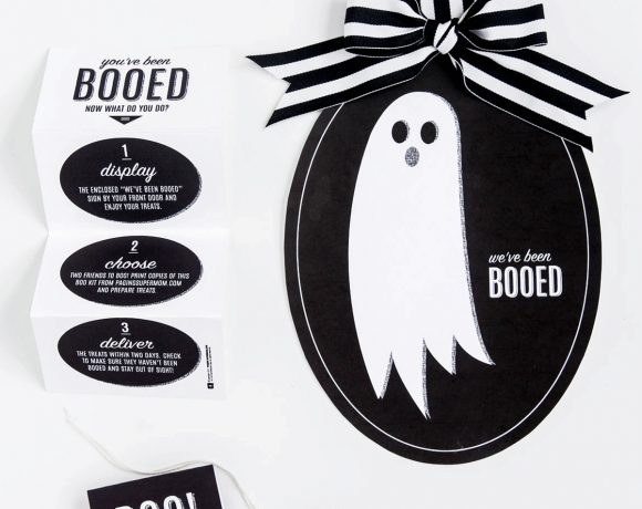 """You've Been Booed"" Sign + Free Halloween Boo Kit"