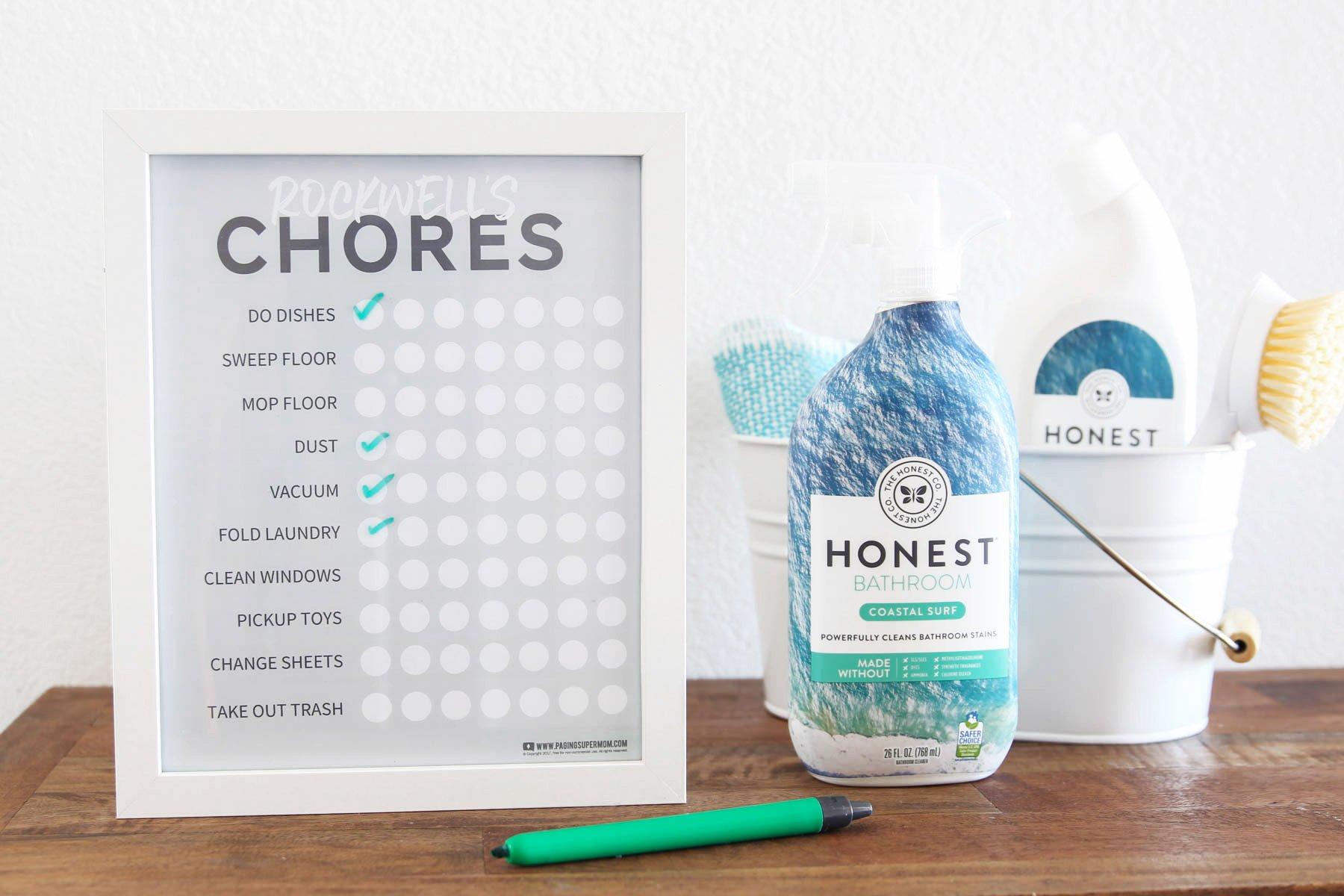 Free Printable Chore Chart for kids via @PagingSupermom