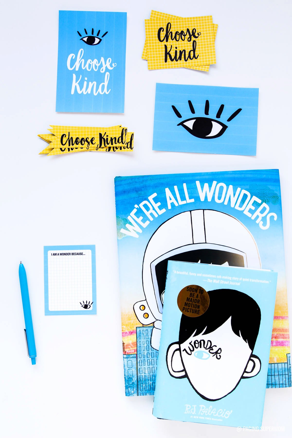 Wonder Book Lesson Plans - cute printable bookmarks and a writing assignment ideas via @PagingSupermom