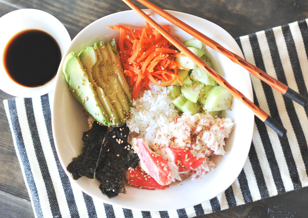 Health & Easy Dinner Idea - Sushi Bowls via @PagingSupermom
