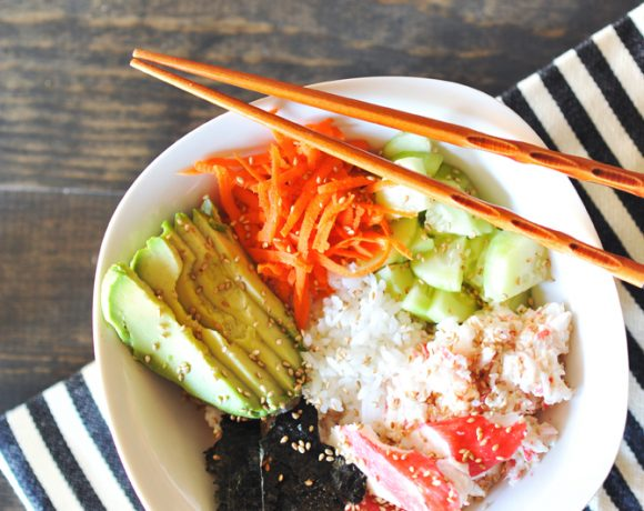 Healthy Dinner Idea: Simple Sushi Bowls