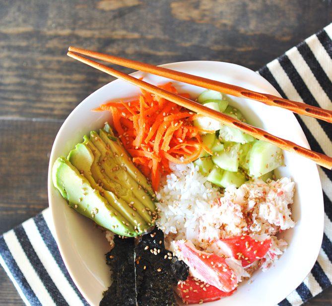 Healthy Dinner Idea: Simple Sushi Bowls