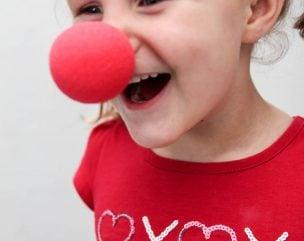 Clown Nose Funny Kids Valentines