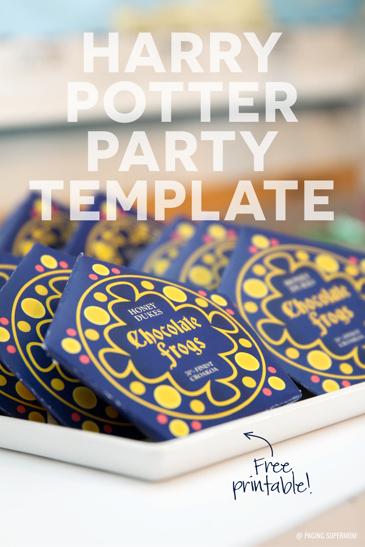 Free Printable Harry Potter Chocolate Frogs Template download @PagingSupermom