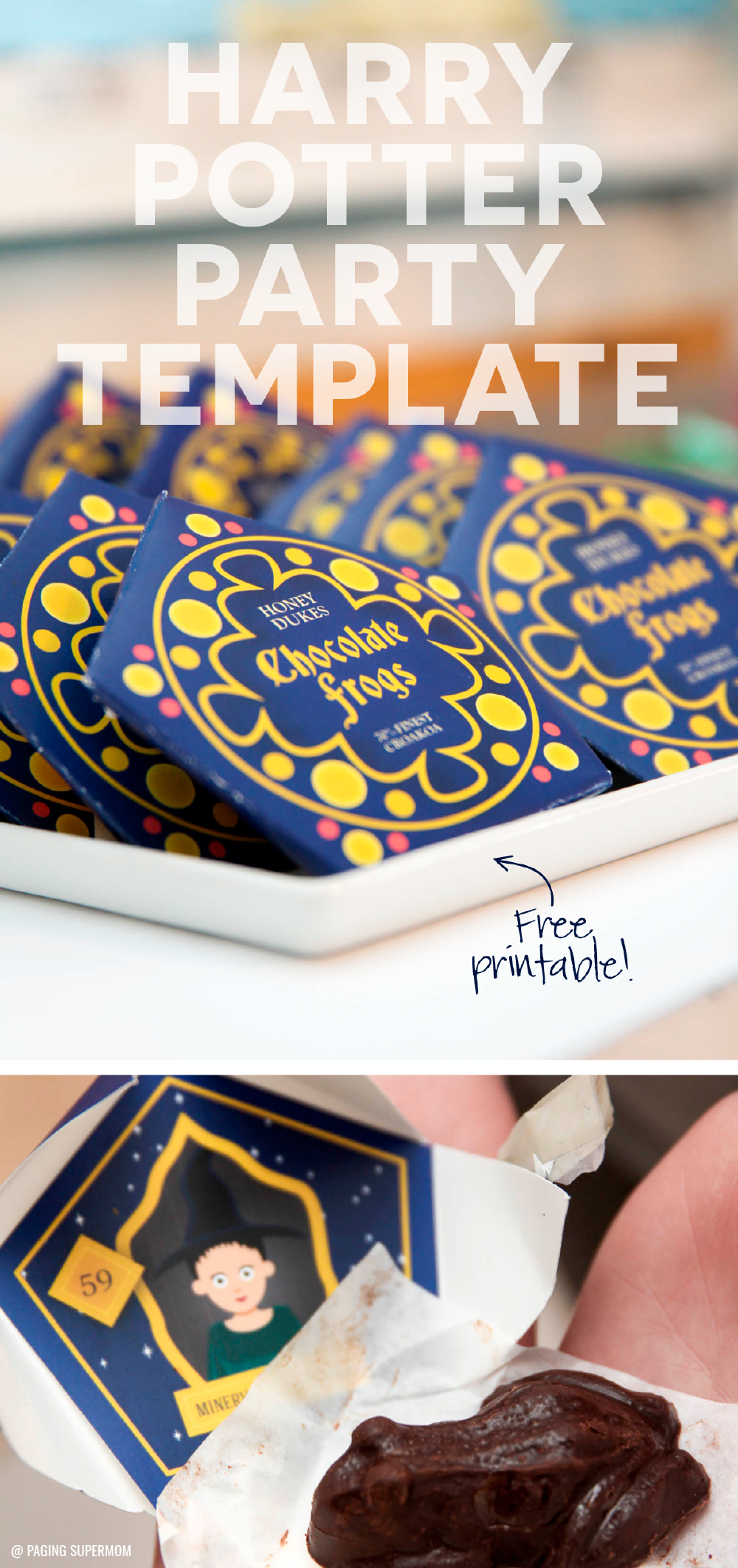 photo about Harry Potter Chocolate Frog Cards Printable called Harry Potter Chocolate Frogs - Absolutely free Printable Template for