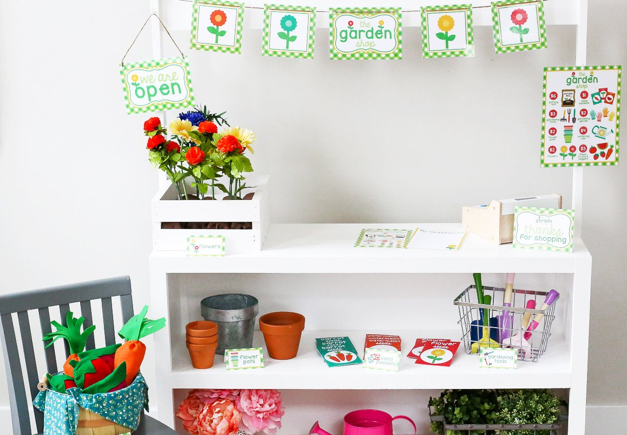 Pretend Play Printable Garden Shop Set