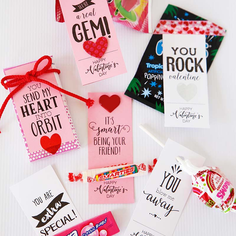 50 different printable valentines