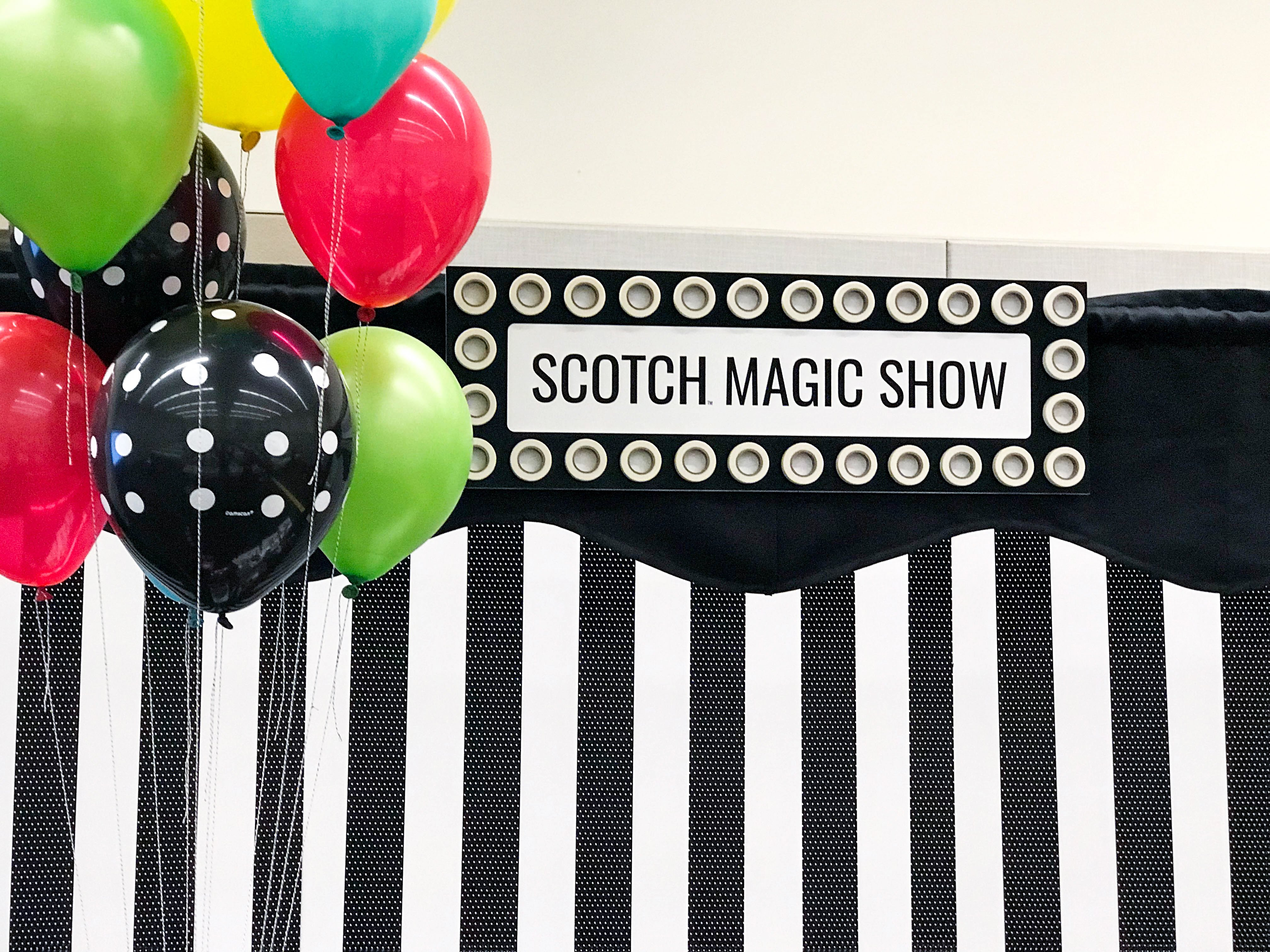 Scotch Tape Marquee Sign @PagingSupermom's Magic Show from Creativation 2018