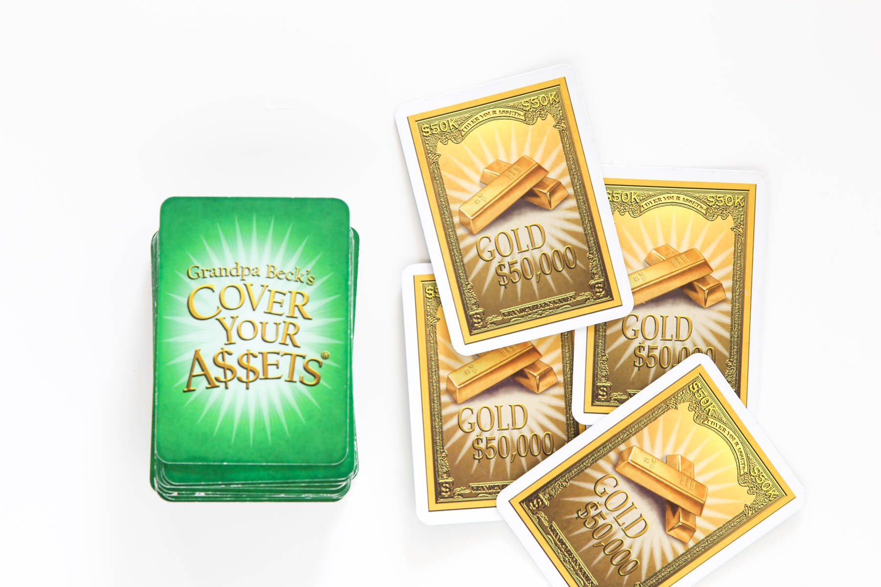 Gold Wild Cards from Cover Your Assets Game - our family's favorite game via @PagingSupermom