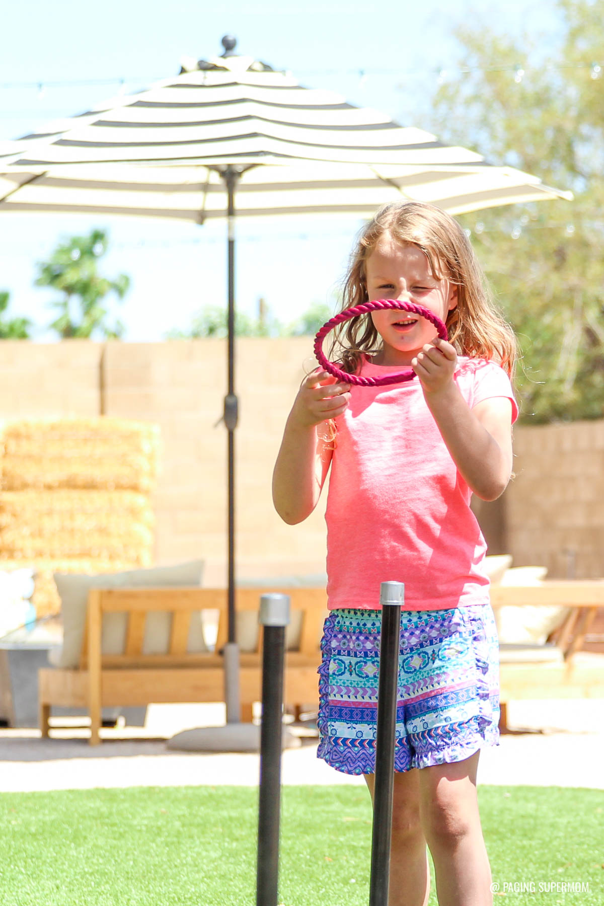 DIY Backyard Games - Ring Toss Plans from @HomeDepot via @PagingSupermom