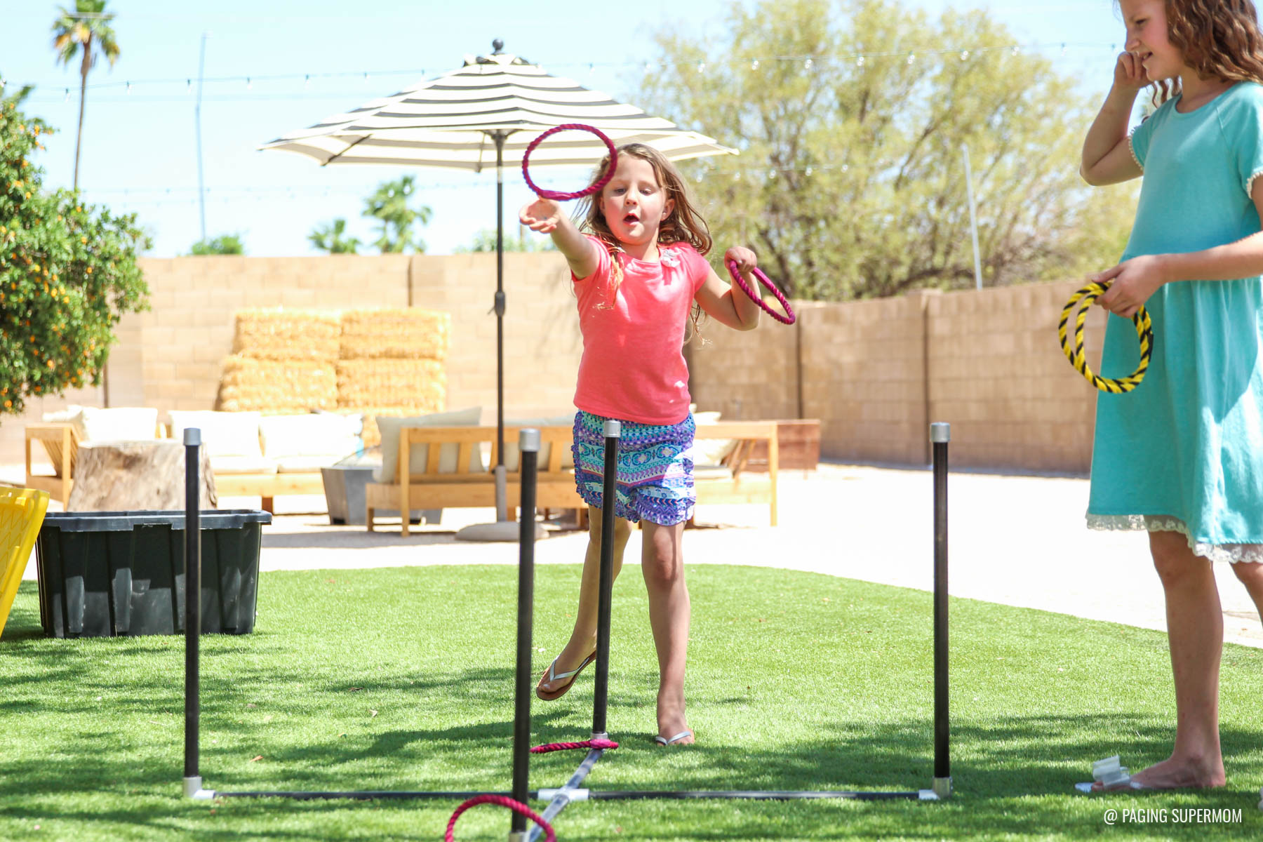 How to make a Ring Toss Game - DIY Backyard Games Plans from @HomeDepot via @PagingSupermom