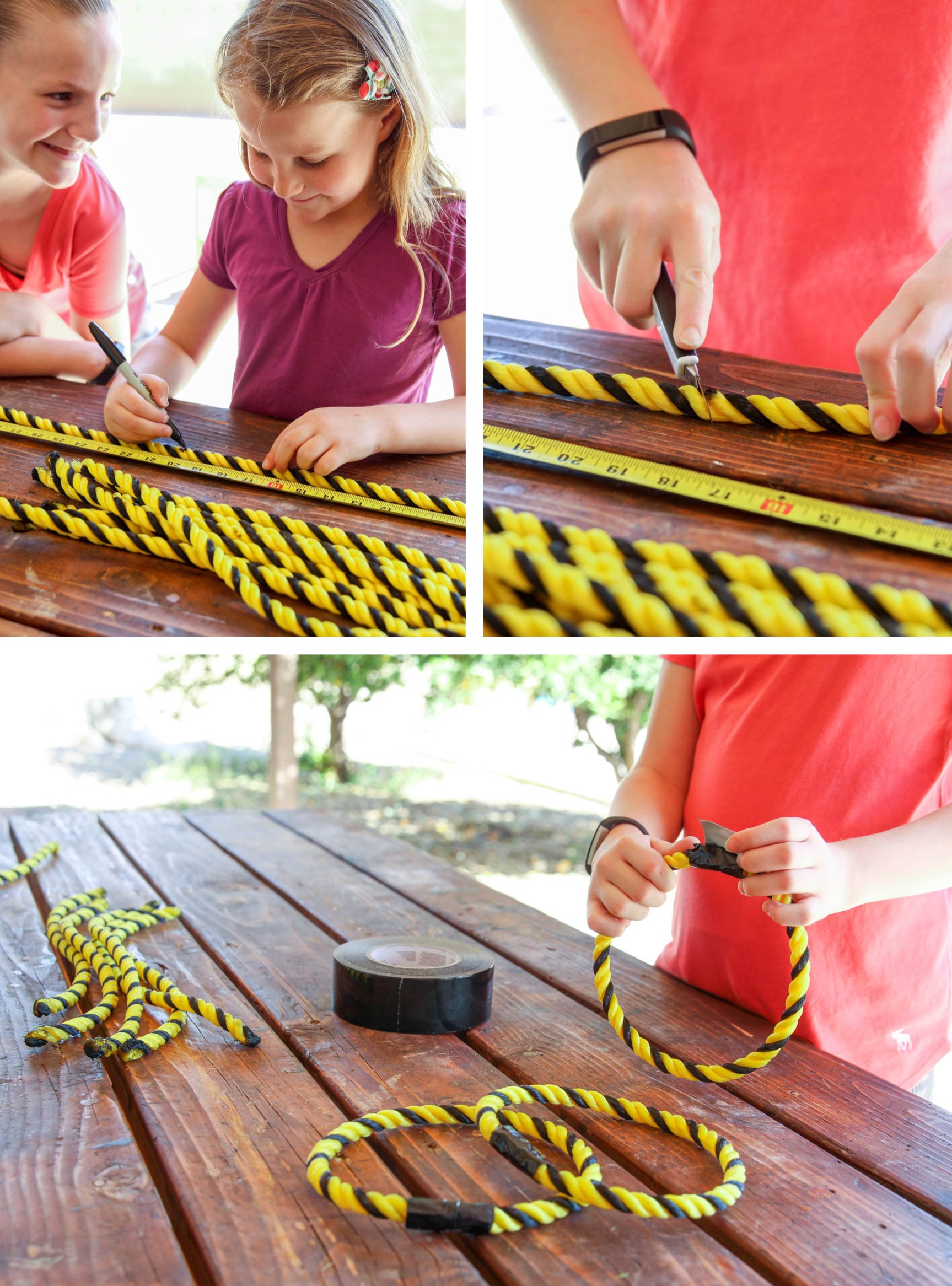 How to make Rings for a Ring Toss Backyard Game via @PagingSupermom