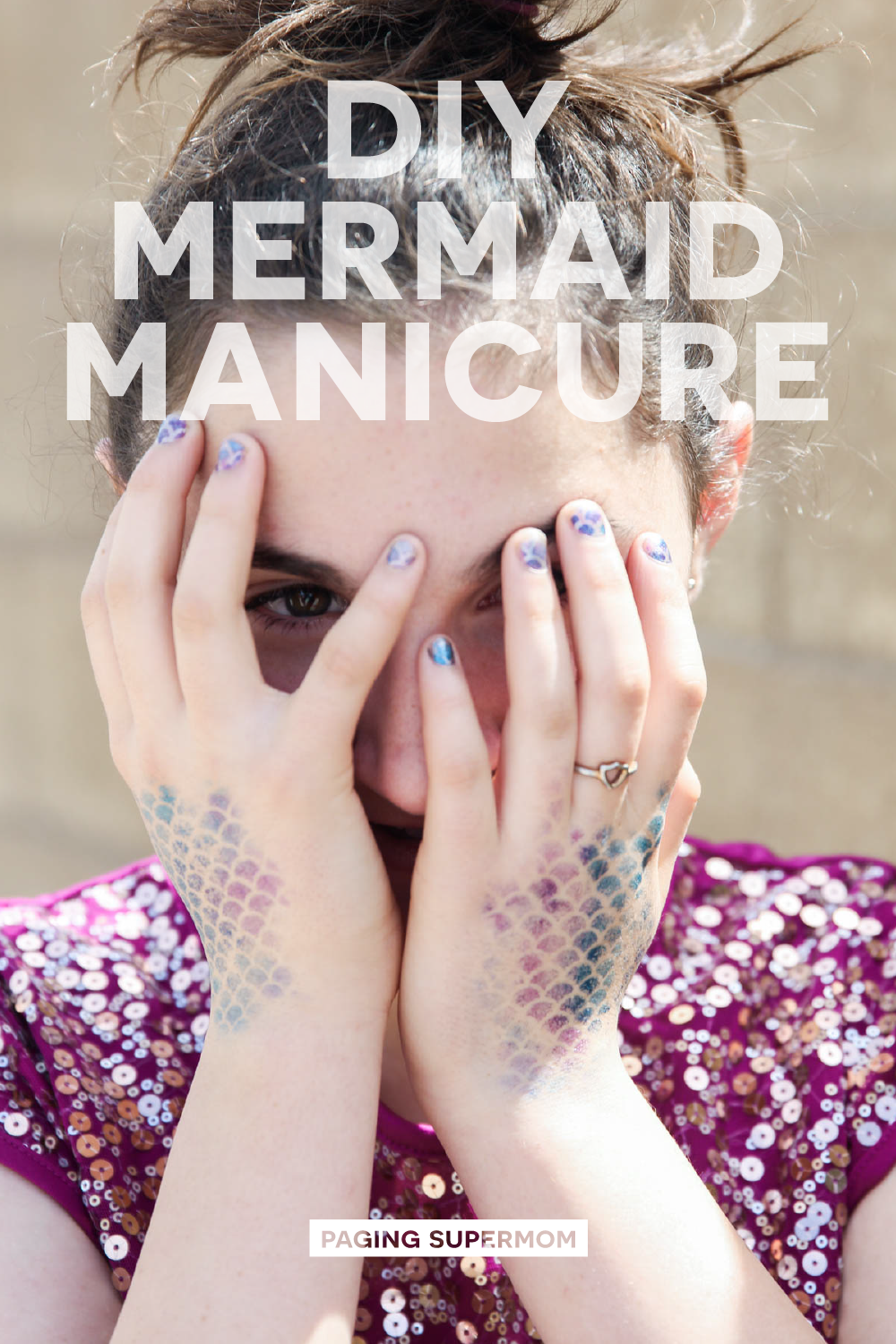 How to Do a Mermaid Manicure - make DIY Mermaid Tail Stencils to do Mermaid Nails and make a Mermaid Tail Temporary Tattoo