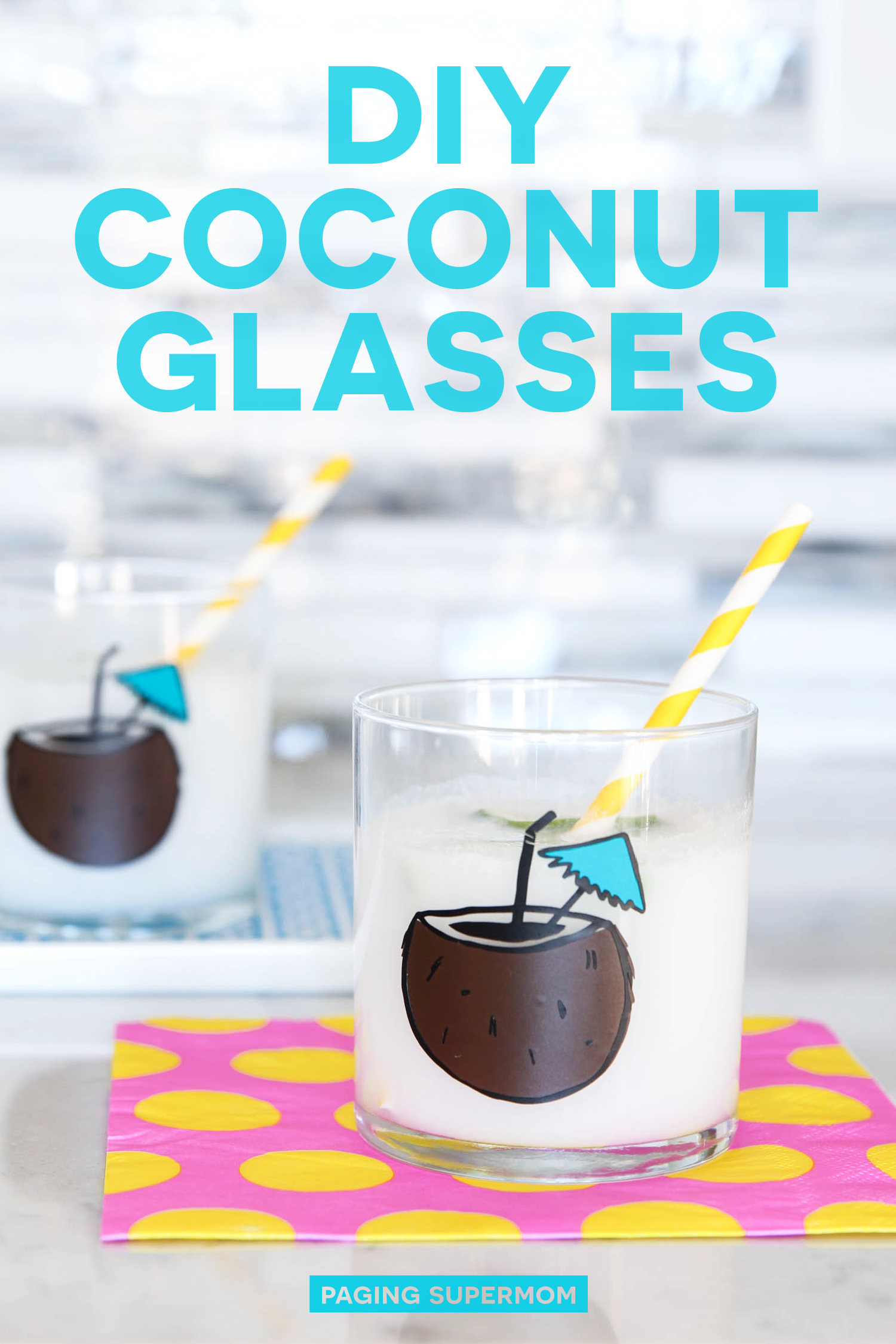 DIY Coconut Cocktail Tumblers with #FreshCuts Palm Springs SVG bundle via @PagingSupermom