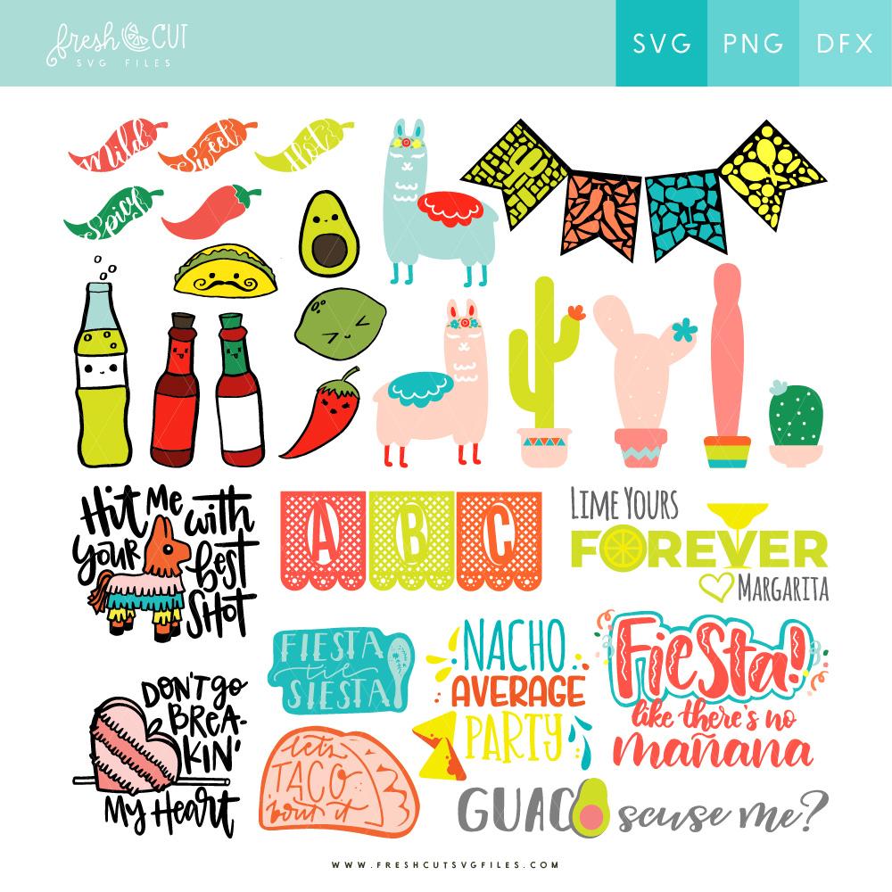 Fiesta Decor SVG Cut Files for Cinco de Mayo #freshcutSVGbundles via @PagingSupermom