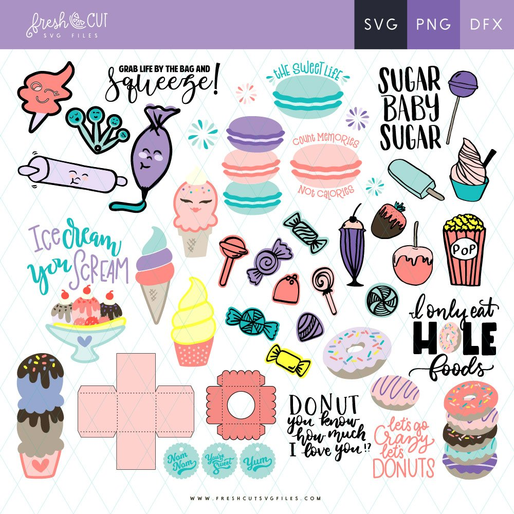 Fresh Cuts Sweet Shoppe SVG Bundle via @PagingSupermom