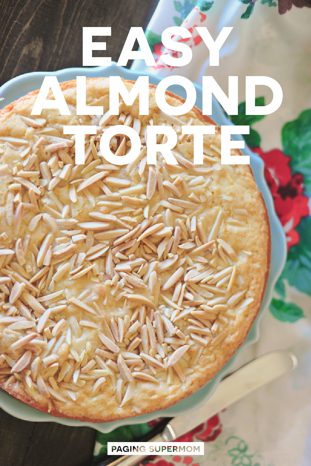 Easy Almond Torte Recipe via @PagingSupermom