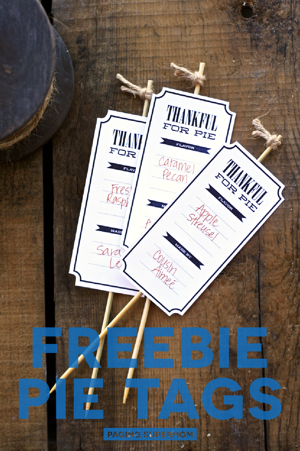 Free Printable Thanksgiving Pie Tags for your #Thanksgiving Feast via @PagingSupermom