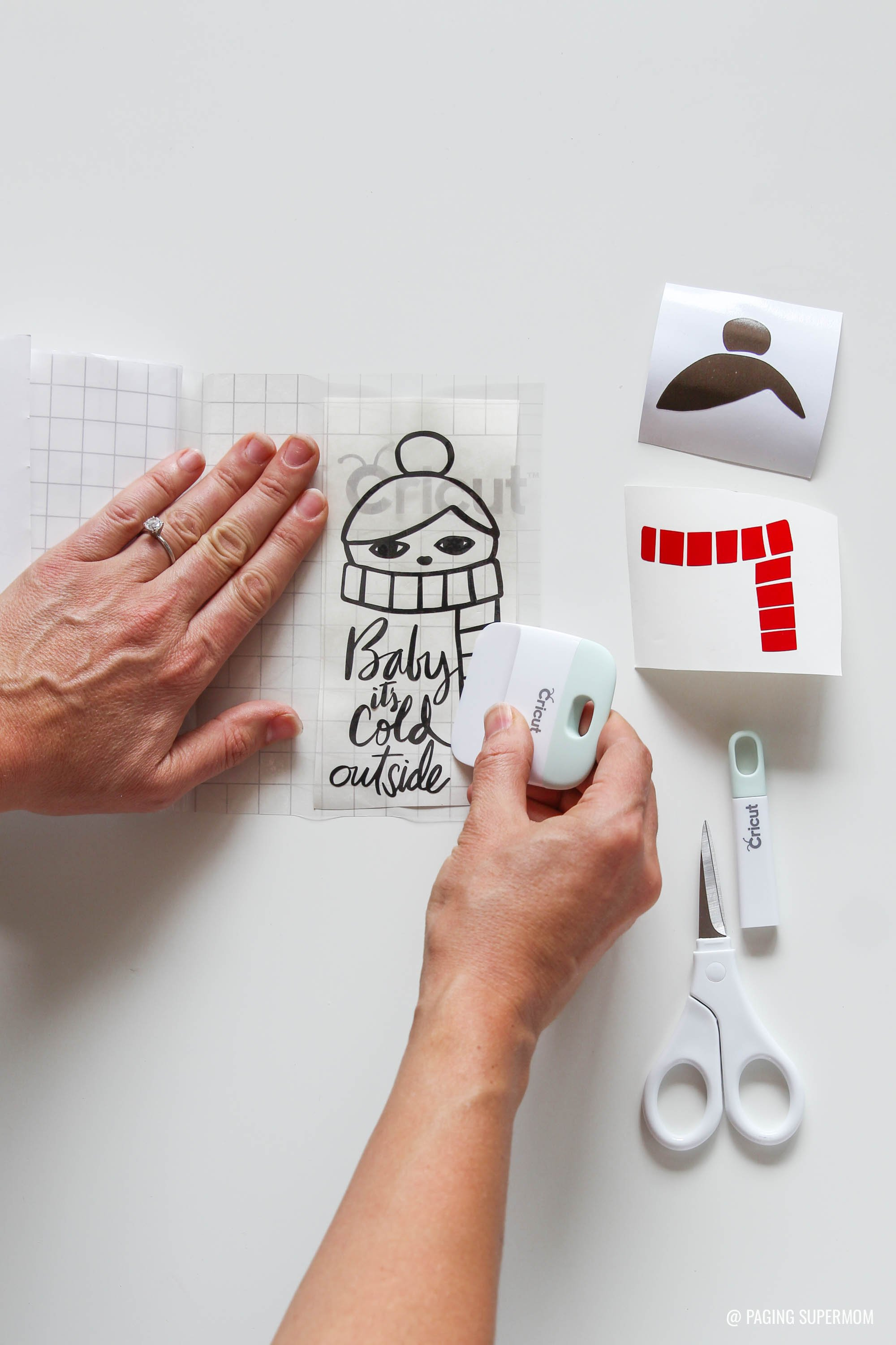 How to Layer Vinyl Cricut Design Space Tutorial via @PagingSupermom