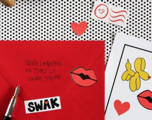 Love Notes: Cricut Print & Cut Valentines Stickers