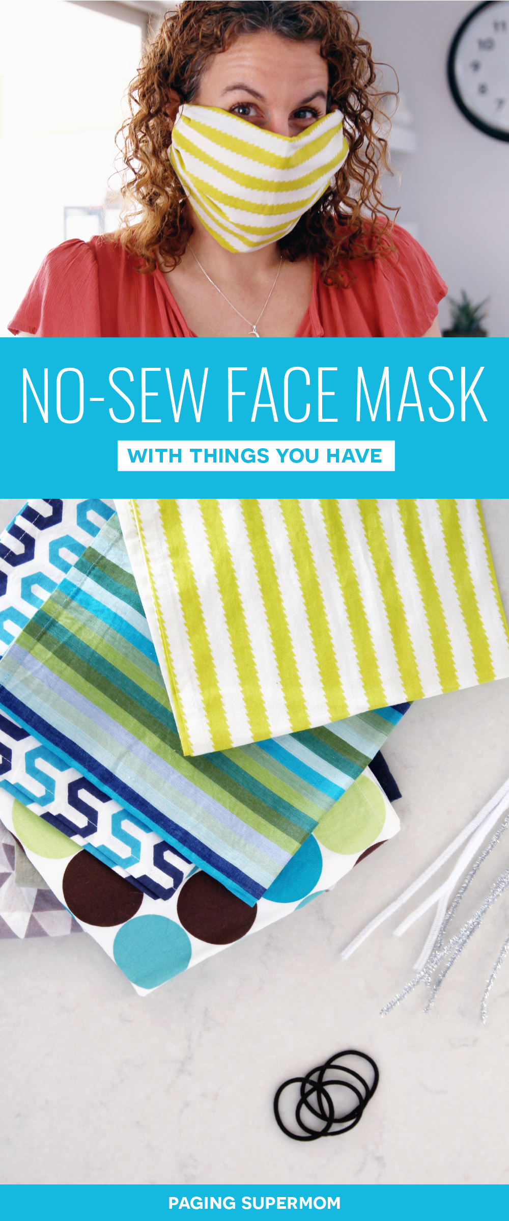How to Make a Face Mask Tutorial. How to make a No-Sew Fabric Face Mask using things you already have at home