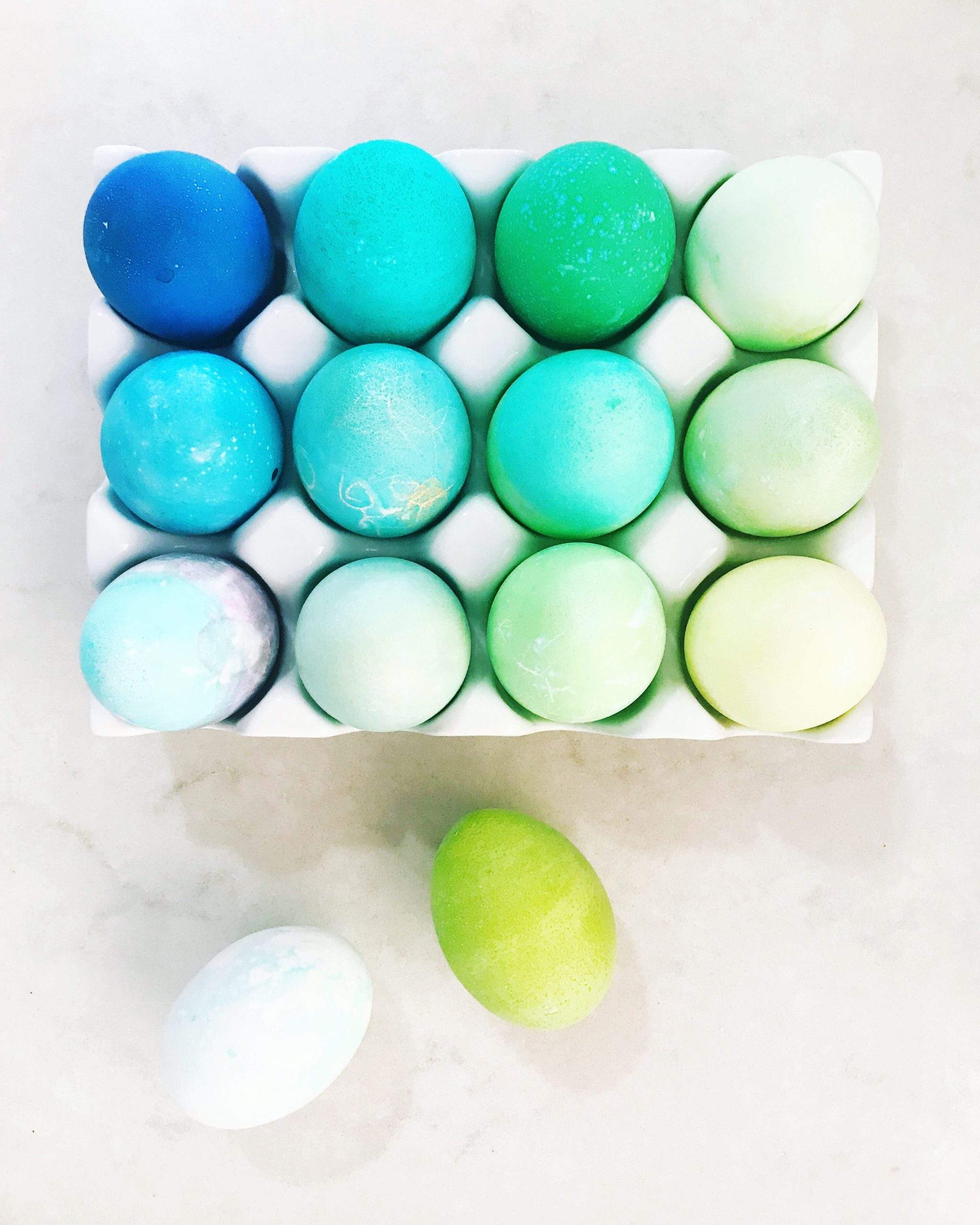 Colorful Easter Eggs made with Homemade Easter Egg Dye. All you need is 3 basic pantry ingredients to make DIY Easter Egg Dye.