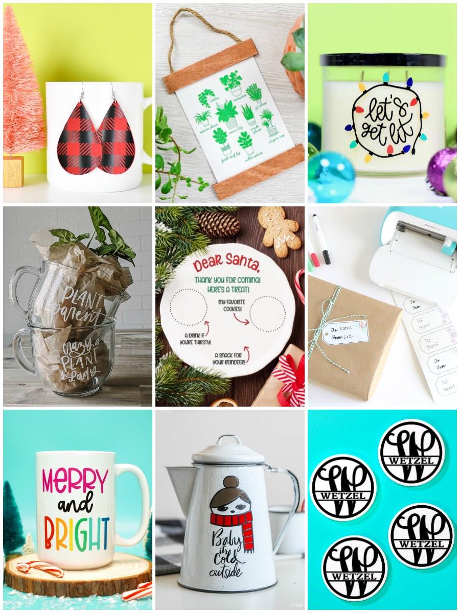 Cricut DIY Christmas Gift Ideas round up