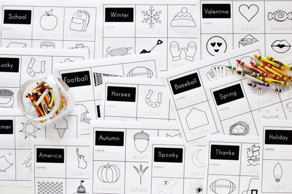 Themed Handwriting Worksheets 1500px